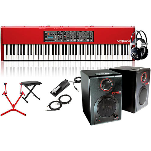 Nord HA88 88-Key with Matching Stand, RPM3 Monitors, Headphones, Bench, and Sustain Pedal