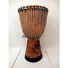 Overseas Connection HAND CARVED 11.5X23 Djembe