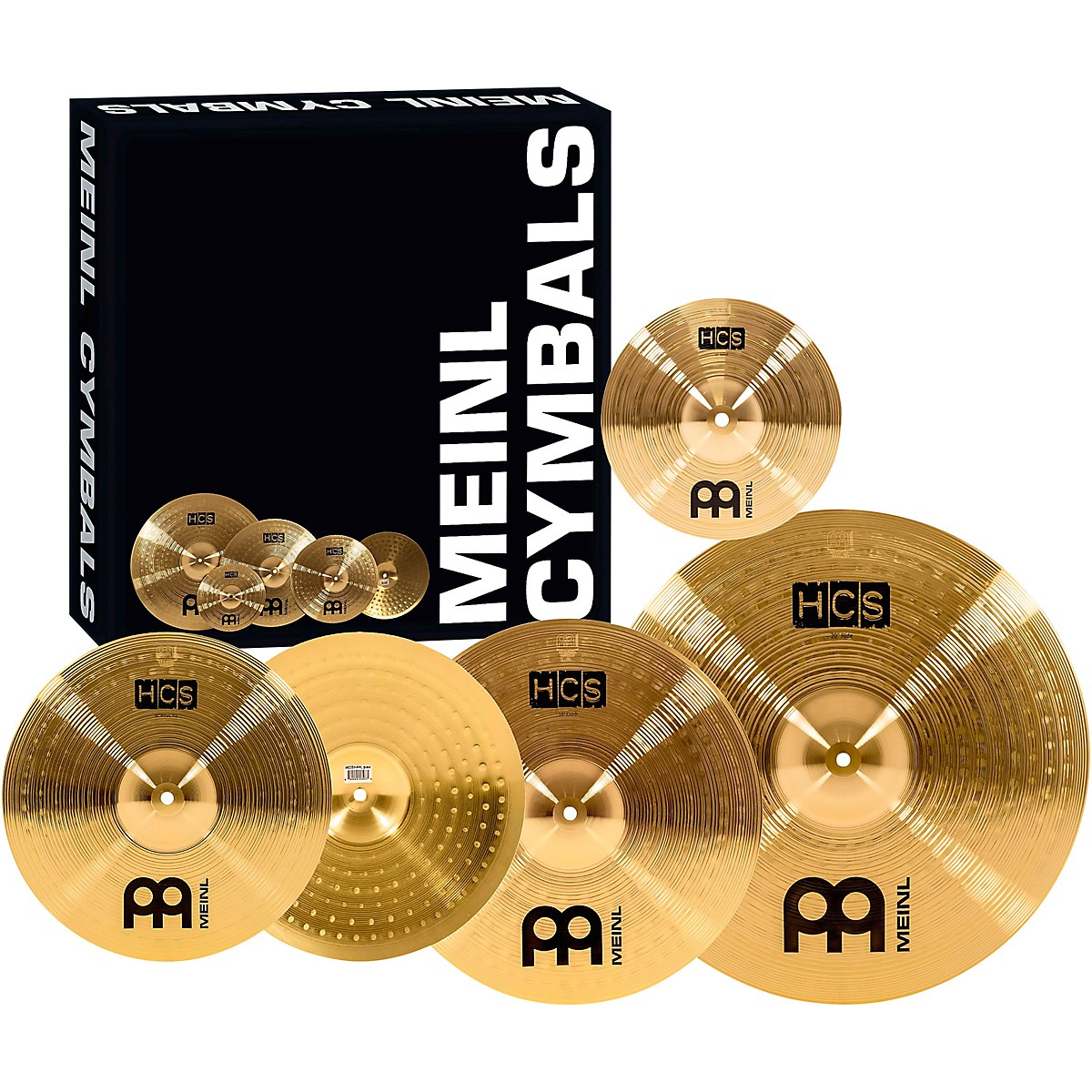 Meinl HCS Complete Cymbal Set with Free 10