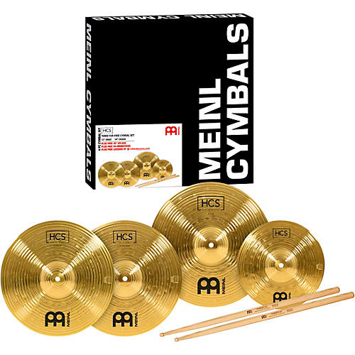 Meinl HCS Cymbal Pack with FREE Splash, Sticks, and Lessons