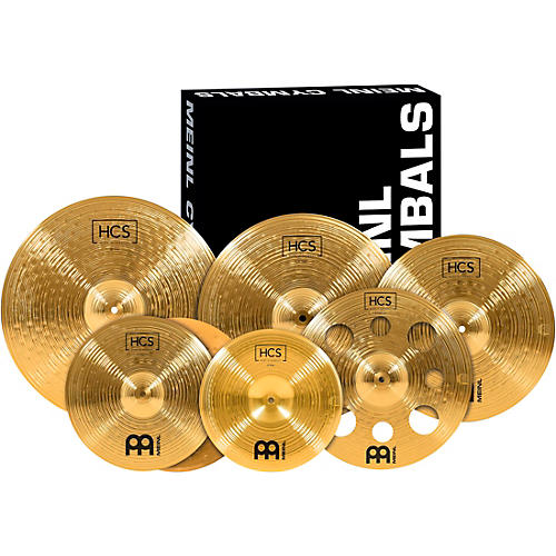 meinl hcs scs1 ultimate complete cymbal set pack with free 16 inch trash crash guitar center. Black Bedroom Furniture Sets. Home Design Ideas