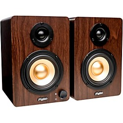 HD3 3.5 In. Powered Studio Monitors Pair Wood