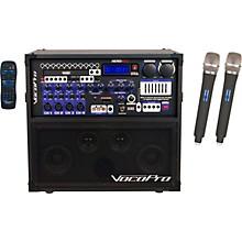 Vocopro HERO-REC UHF Multi-Format Portable PA Karaoke System with Digital Recorder & UHF Wireless System Level 1 Set Q+R