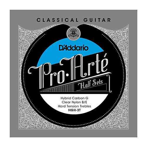 D'Addario HGH-3T Pro-Arte Hard Tension Classical Guitar Strings Half Set