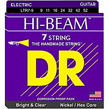 DR Strings HI-BEAM Nickel Plated 7-String Electric Guitar Strings Lite (9-52)