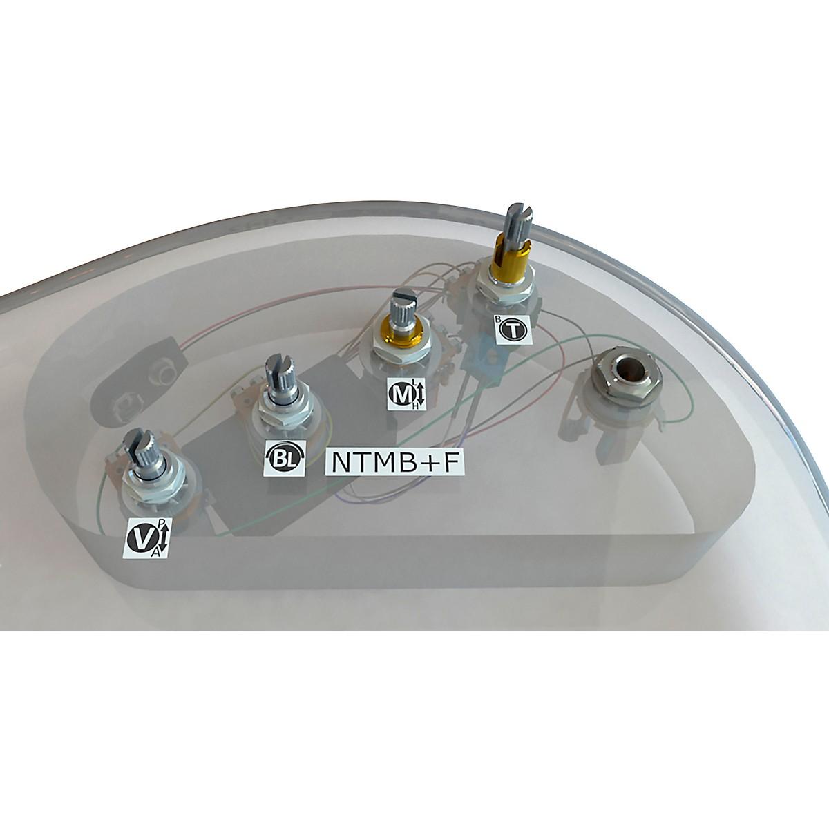 Bartolini HR-4.6APJ/918 3-Band NTMB+F Preamp, 4 Inline Pots, Active/Passive