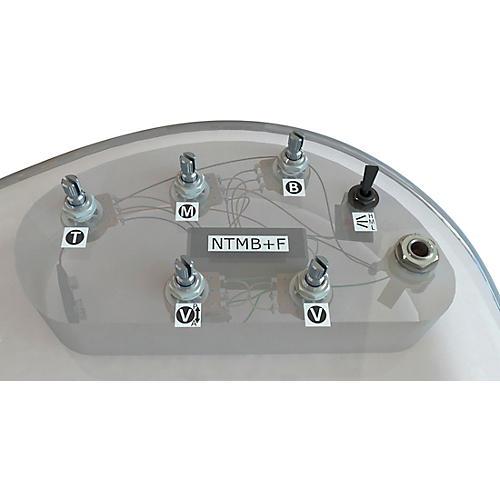Bartolini HR-5.3AP/918 3-Band NTMB+F Preamp, 5 Pots, 1 Toggle, Active/Passive