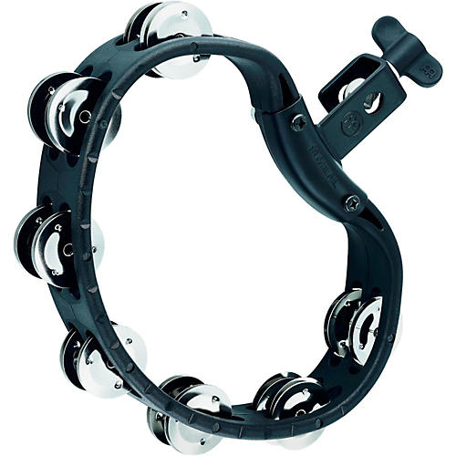 Meinl HTMT4BK Mountable Guiro Tambourine with Double Row Steel Jingles
