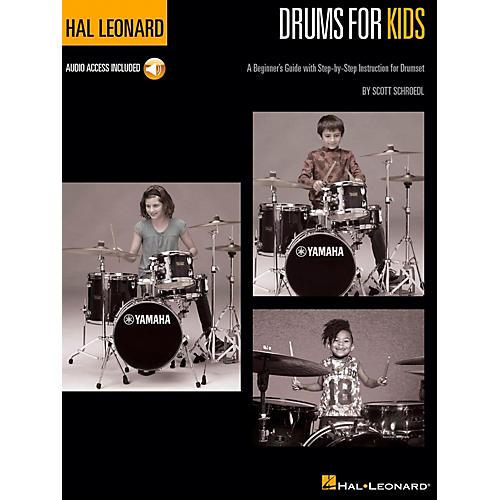 Hal Leonard Hal Leonard Drums for Kids - A Beginner's Guide with Step-by-Step Instruction for Drumset Book/Audio Online
