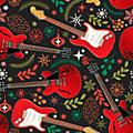 Hal Leonard Hal Leonard Holiday Red Guitars Premium Gift Wrapping Paper thumbnail