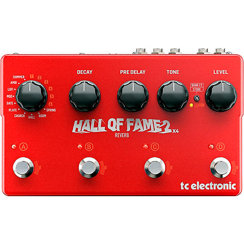 TC Electronic Hall of Fame 2 X4 Reverb Guitar Effect Pedal