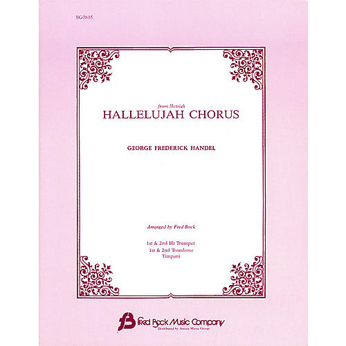 Fred Bock Music Hallelujah Chorus (from Messiah) IPAKB arranged by Fred Bock