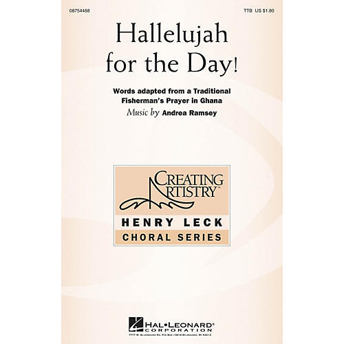 Hal Leonard Hallelujah for the Day! TTB composed by Andrea Ramsey