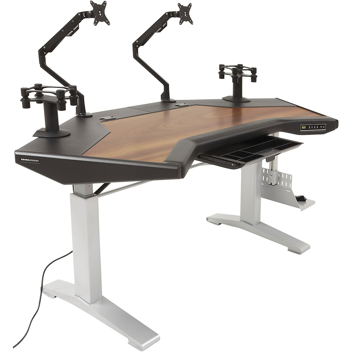 Argosy Halo G XC E Ultimate Height Adjustable Desk with Mahogany Surface