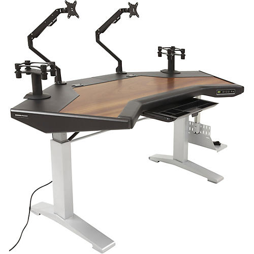 Argosy Halo G XC E Ultimate Height Adjustable Desk with Mahogany Surface