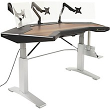 Argosy Halo G XM E Height Adjustable Desk with Mahogany Surface