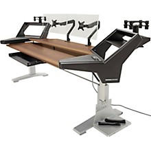 Argosy Halo K88 XC Ultimate Height Adjustable Desk with Mahogany Surface