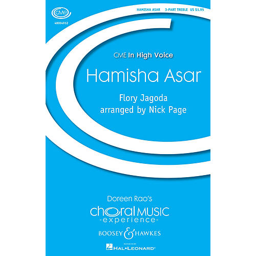 Boosey and Hawkes Hamisha Asar (CME In High Voice) 3 Part Treble composed by Flory Jagoda arranged by Nick Page