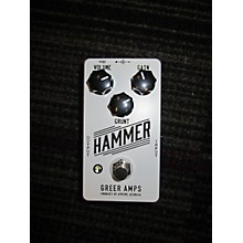 Greer Amplification Hammer Distortion/Fuzz Effect Pedal