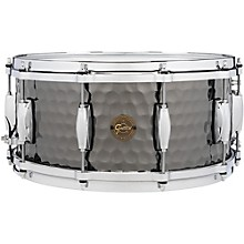 Hammered Black Steel Snare 14 x 6.5 in.
