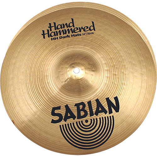 Sabian Hand Hammered Dark Hi-Hat Cymbal Pair