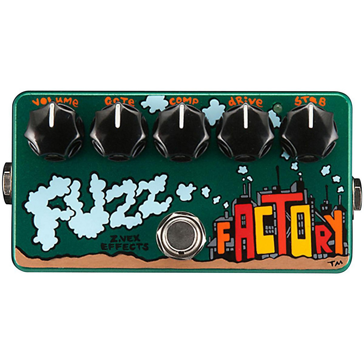 Zvex Hand-Painted Fuzz Factory Guitar Effects Pedal