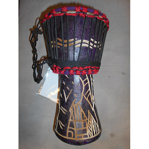 Swart Handmade Purple Leaves Djembe