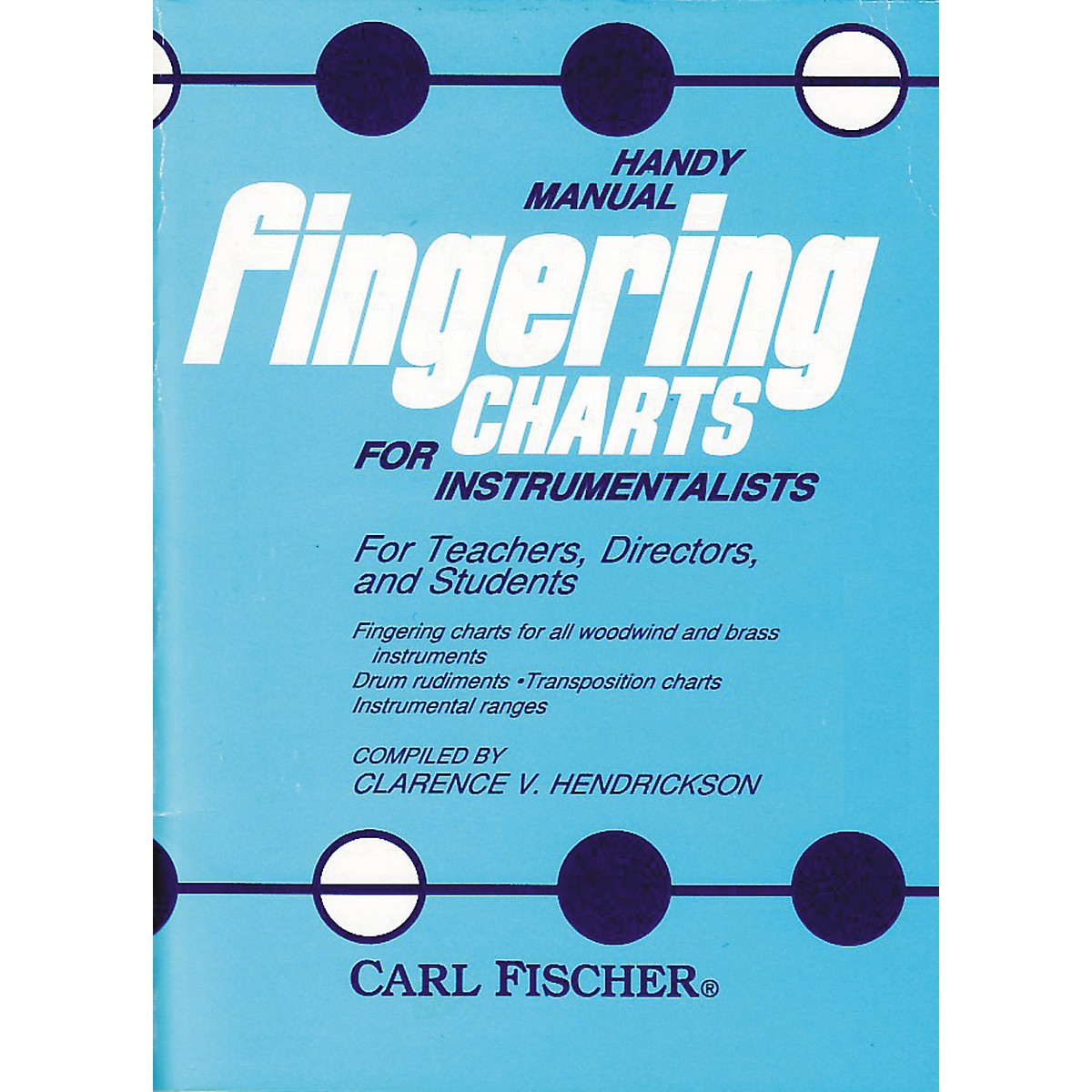 Carl Fischer Handy Manual Fingering Charts For Instrumentalists