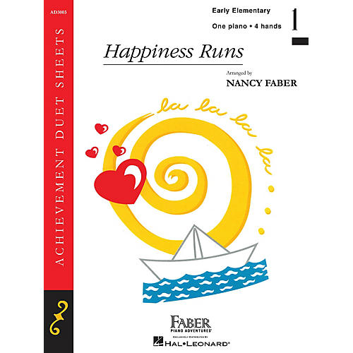 Faber Piano Adventures Happiness Runs (Early Elem/Level 1 Piano Duet) Faber Piano Adventures® Series