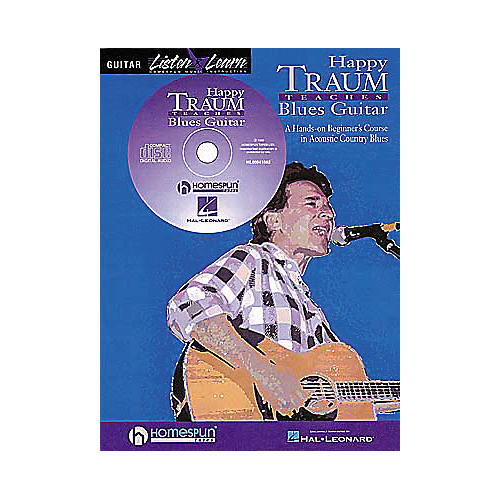 Homespun Happy Traum Teaches Blues Guitar (Book/CD)
