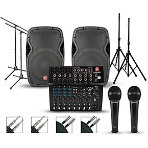 harbinger harbinger l1202 mixer with harbinger vari pa package guitar center. Black Bedroom Furniture Sets. Home Design Ideas