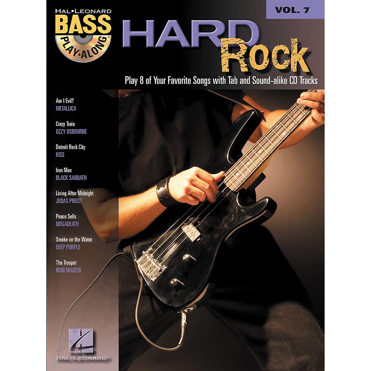 Hal Leonard Hard Rock Bass Guitar Play-Along Series Volume 7 Songbook with CD