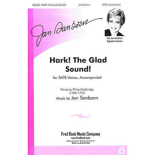 Fred Bock Music Hark! The Glad Sound! Handbell Acc Composed by Jan Sanborn