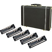 Harmonica 5-Pack with Case