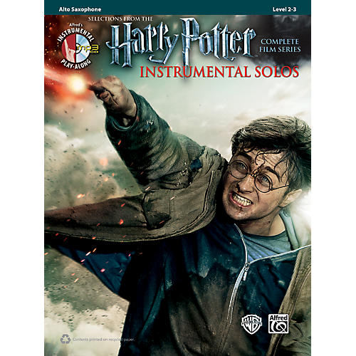 Alfred Harry Potter Instrumental Solos Alto Sax - Book/CD