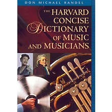 """Alfred Harvard Concise Dictionary of Music and Musicians 9"""" x 6 1/4"""" format"""
