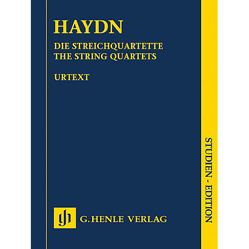 G. Henle Verlag Haydn: The String Quartets - Henle Study Scores Series, Edited by Sonja Gerlach