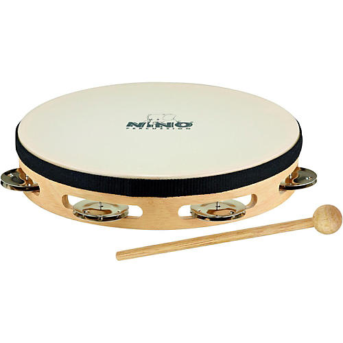Nino Headed Wood Tambourine w/Single Row of Chimes