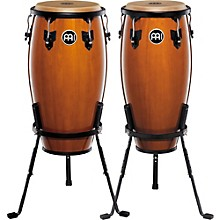 Headliner Series 11 and 12 Inch Wood Conga Set with Basket Stands Maple