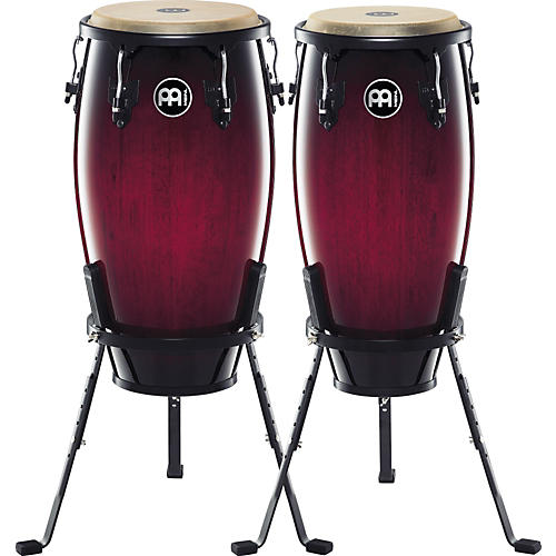 Meinl Headliner Series 11 and 12 Inch Wood Conga Set with Basket Stands