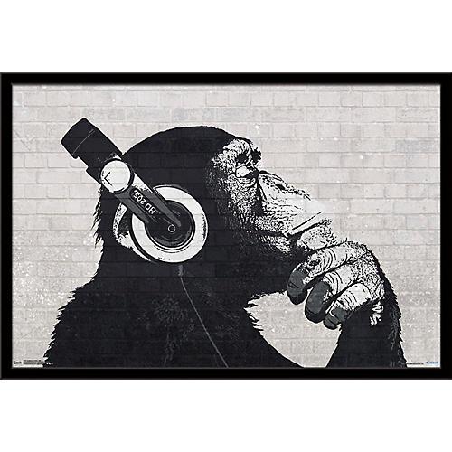 Trends International Headphones Chimp - Wall Poster