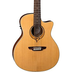 luna guitars heartsong 12 string with usb acoustic electric guitar natural guitar center. Black Bedroom Furniture Sets. Home Design Ideas