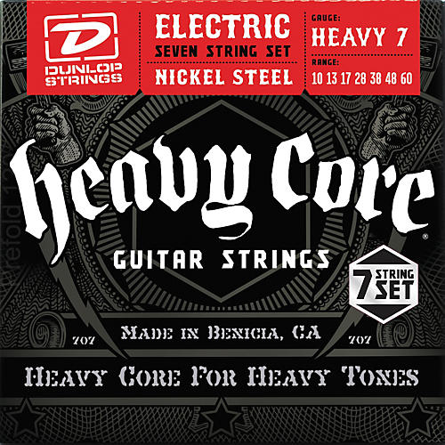dunlop heavy core 7 string electric guitar strings heavy gauge guitar center. Black Bedroom Furniture Sets. Home Design Ideas