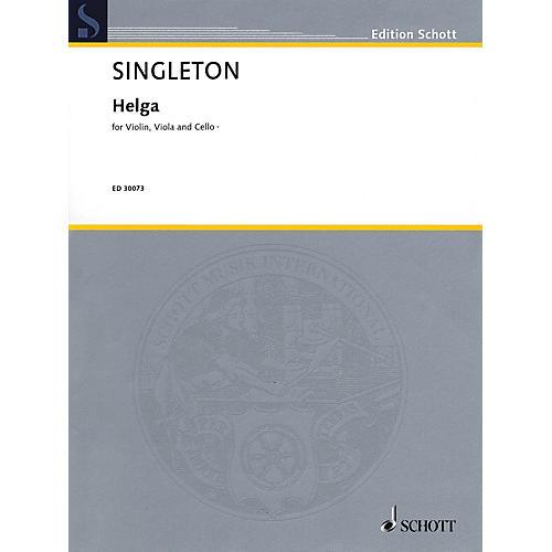 Schott Music Corporation New York Helga (Violin, Viola, and Cello) String Series Composed by Alvin Singleton