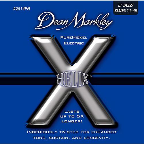 Dean Markley Helix Pure Nickel Light Jazz/Blues Electric Guitar Strings (11-49)