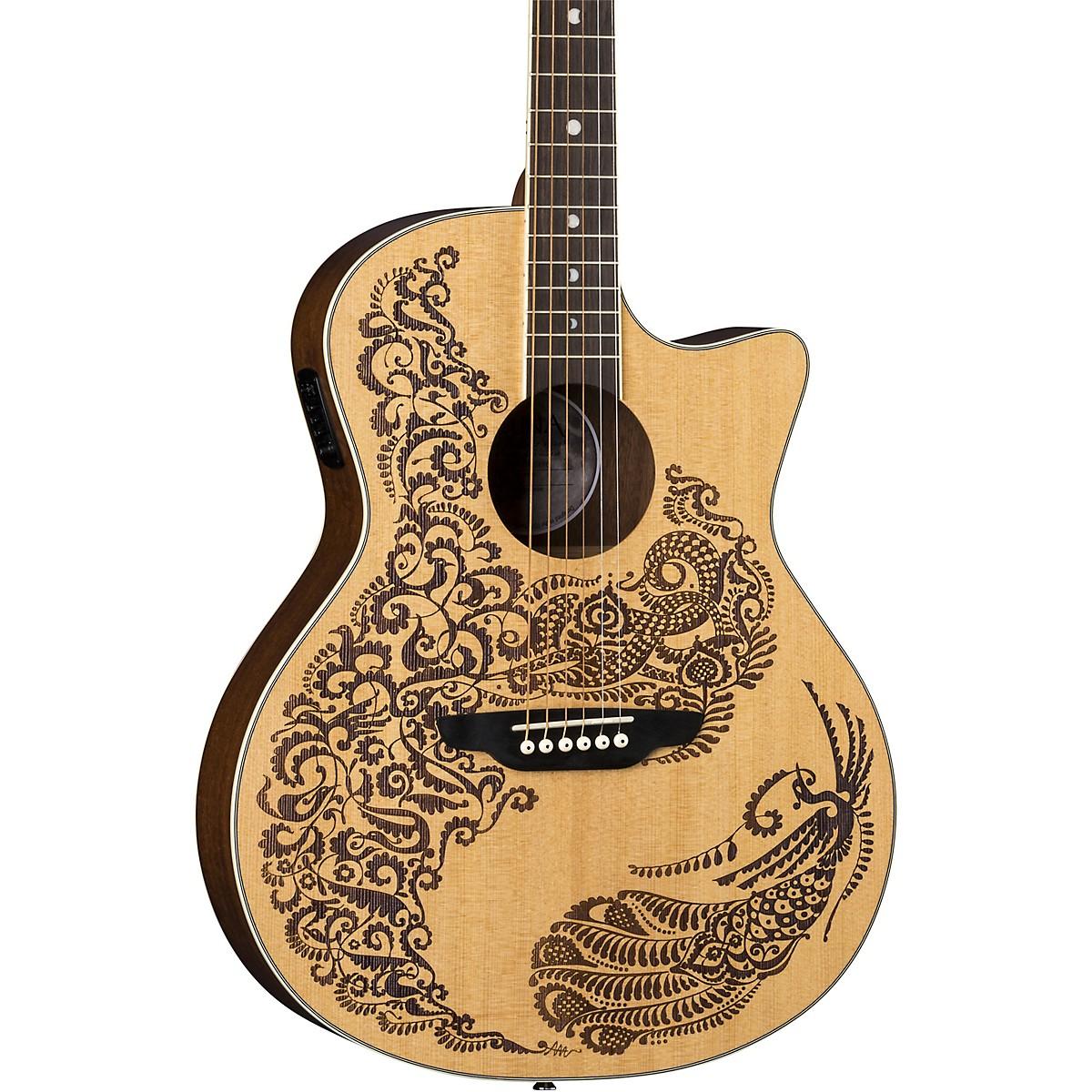 Luna Guitars Henna Paradise Select Spruce Acoustic-Electric Guitar