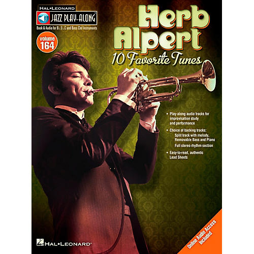 Hal Leonard Herb Alpert - Jazz Play-Along Volume 164 Book/CD