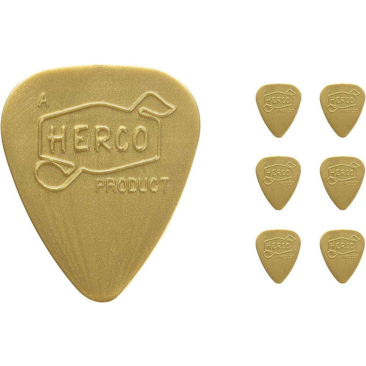Dunlop Herco Vintage 66' Light Picks Gold (6-Pack)