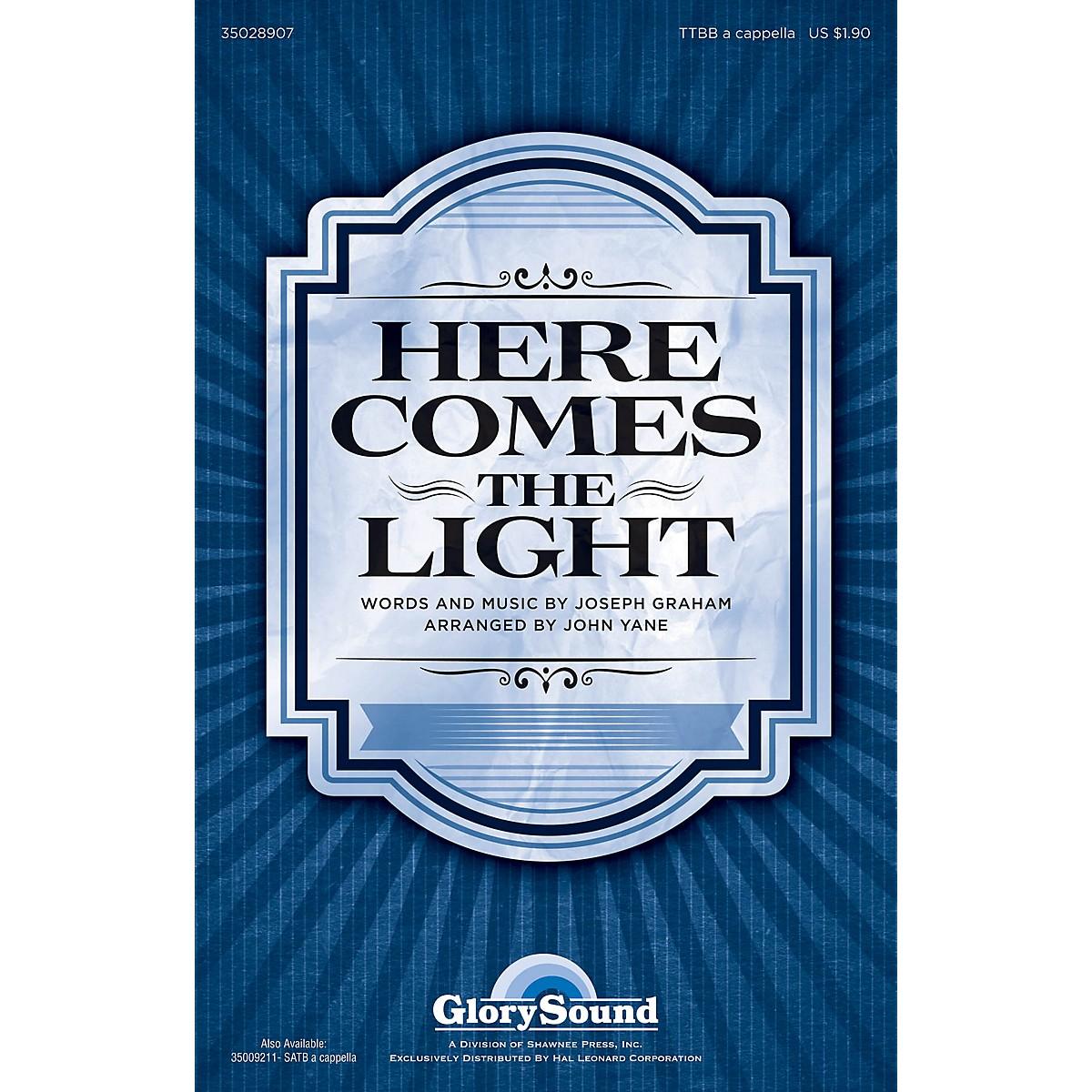 Shawnee Press Here Comes the Light TTBB A Cappella arranged by John Yane