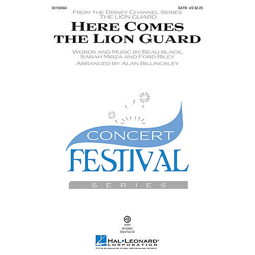 Hal Leonard Here Comes the Lion Guard SATB by Beau Black arranged by Alan Billingsley